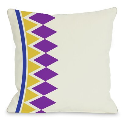 Asymmetrical Diamonds Throw Pillow Color: Purple