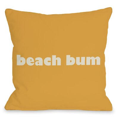 Beach Bum Throw Pillow Size: 16 H x 16 W
