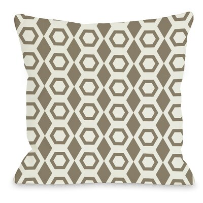 Beehive Geometric Throw Pillow Size: 18 H x 18 W