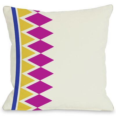 Asymmetrical Diamonds Throw Pillow Color: Fuchsia
