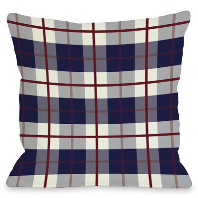 "One Bella Casa American Plaid Throw Pillow - Size: 18"" H x 18"" W"