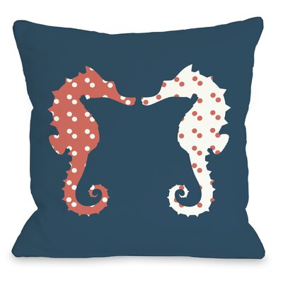 BFF Seahorse Throw Pillow Size: 18 H x 18 W