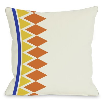 Asymmetrical Diamonds Throw Pillow Color: Orange