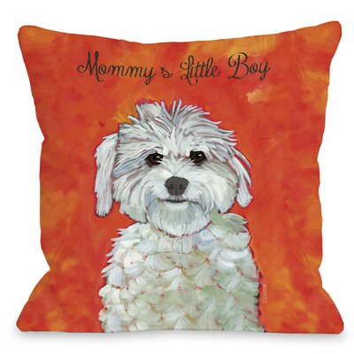 Doggy D�cor Mommys Little Boy Throw Pillow