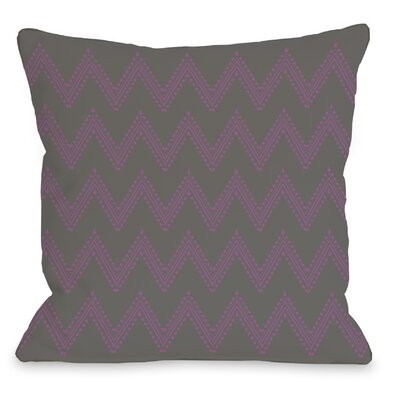 Athena Tier Throw Pillow Color: Charcoal Orchid