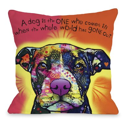 Doggy D�cor Love A Bull with Text Throw Pillow Size: 16 H x 16 W