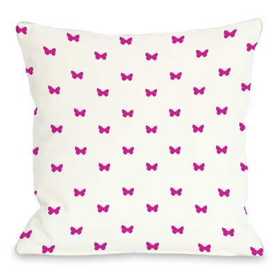 Mini All Over Butterfly Throw Pillow Size: 16 H x 16 W