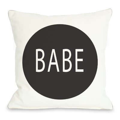 Babe Circle Throw Pillow