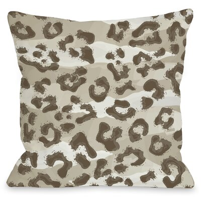 Ariana Cheetah Throw Pillow Size: 16 H x 16 W, Color: Tan Brown