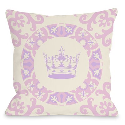 Adriannas Crown Throw Pillow Size: 18 H x 18 W