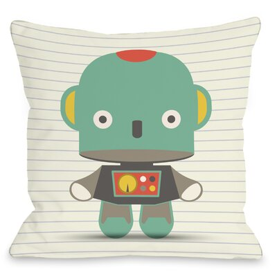 Andys Robot Throw Pillow Size: 18 H x 18 W