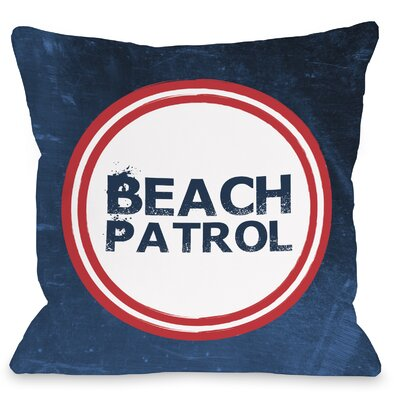 Beach Patrol Throw Pillow Size: 18 H x 18 W