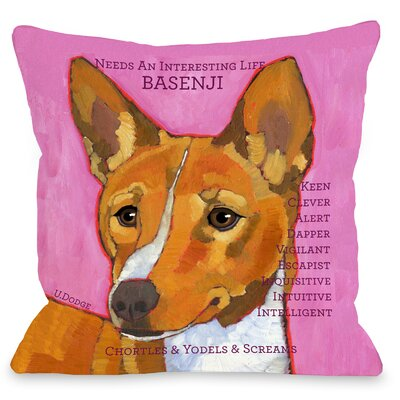 Doggy D�cor Basenji Throw Pillow Size: 18 H x 18 W