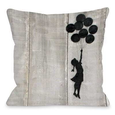 Balloon Throw Pillow Size: 16 H x 16 W