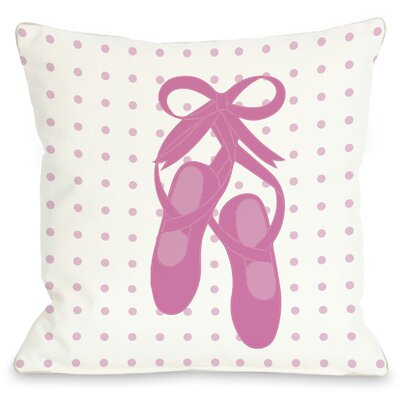 Bella Ballet Slippers Throw Pillow Size: 16 H x 16 W
