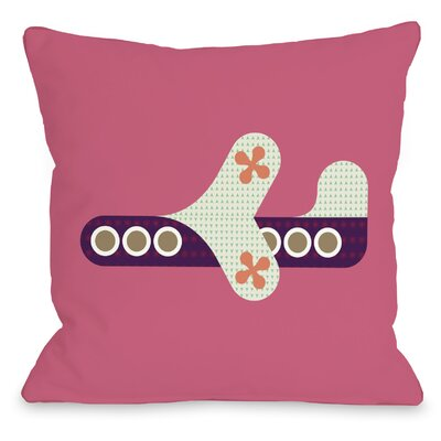 Airplane Throw Pillow Size: 18 H x 18 W