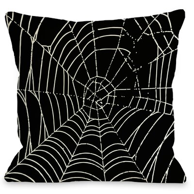 All Over Spider Webs Throw Pillow Size: 18 x 18
