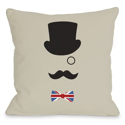 A British Gentleman Throw Pillow Size: 16 H x 16 W
