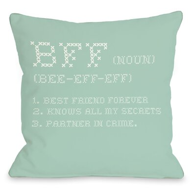 BFF Cross Stitch Throw Pillow