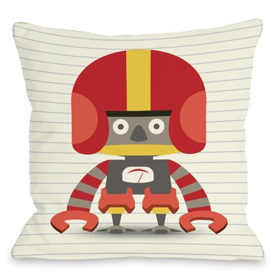 Ashers Robot Throw Pillow Size: 16 H x 16 W