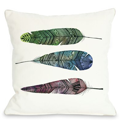Apache Rainbow Feather Throw Pillow Size: 20 x 20