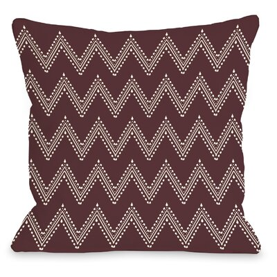 Athena Tier Throw Pillow Color: Chocoate Truffle Cream