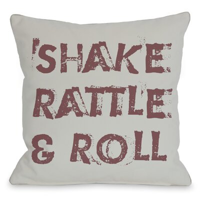 Shake Rattle and Roll Throw Pillow