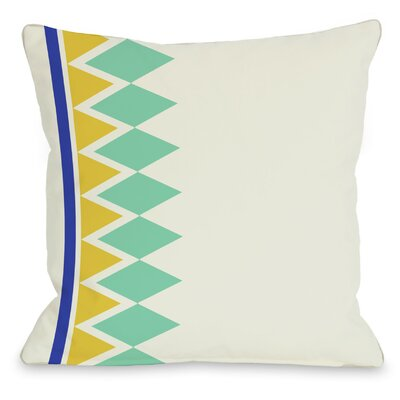 Asymmetrical Diamonds Throw Pillow Color: Turquoise