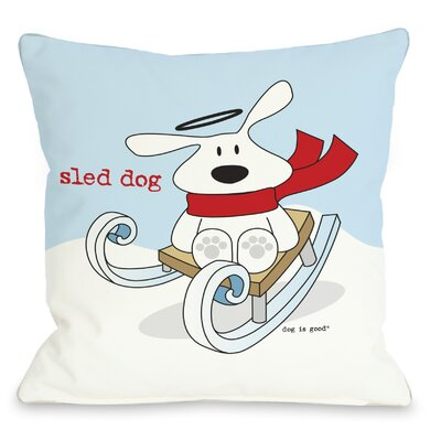 Doggy D�cor Sled Dog Throw Pillow