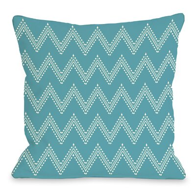 Athena Tier Throw Pillow Color: Peacock Blue Cream