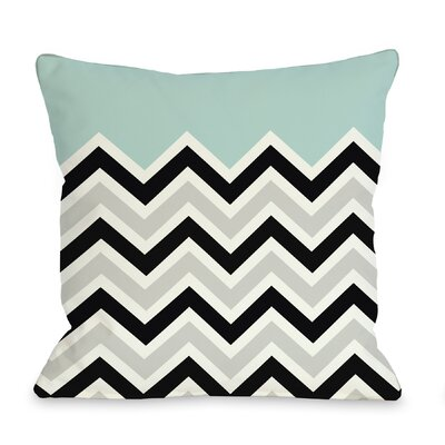Chevron Throw Pillow Color: Light Blue, Size: 18 H x 18 W
