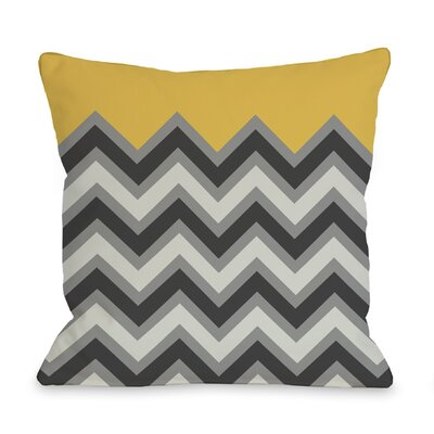 Chevron Throw Pillow Size: 18 H x 18 W, Color: Mimosa