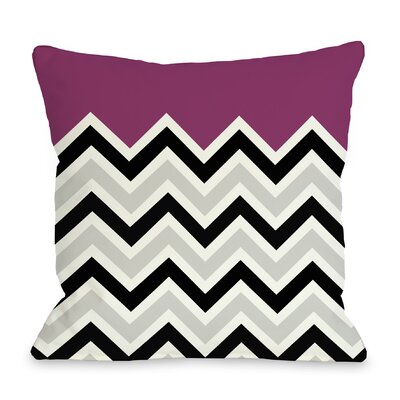 Chevron Throw Pillow Color: Fuchsia, Size: 16 H x 16 W
