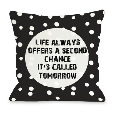 Second Chance Dot Throw Pillow Size: 18 H x 18 W