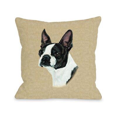 Doggy D�cor BostonTerrier Throw Pillow Size: 26 H x 26 W