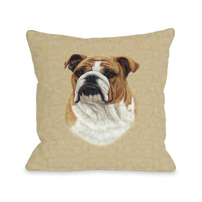 Doggy D�cor Bulldog Throw Pillow Size: 26 H x 26 W