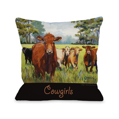 Doggy D�cor Cowgirls Throw Pillow