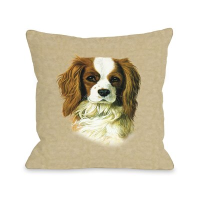Doggy D�cor Cavalier King Charles Throw Pillow Size: 26 H x 26 W