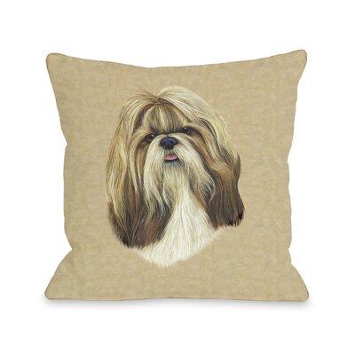 Doggy D�cor Shihtzu Throw Pillow Size: 26 H x 26 W