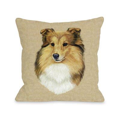 Doggy D�cor Shetland Sheepdog Head Throw Pillow Size: 26 H x 26 W