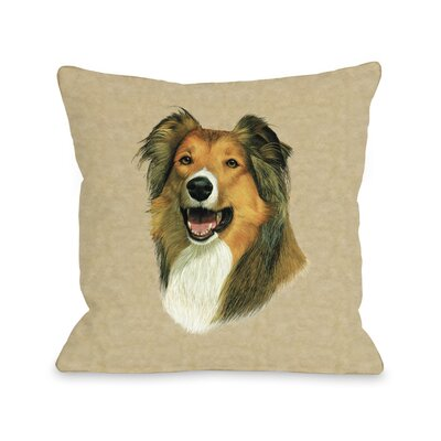 Doggy D�cor Rough Collie Throw Pillow Size: 26 H x 26 W