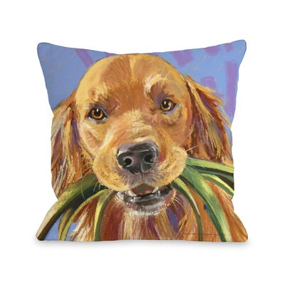 Doggy D�cor Wanna Walk Throw Pillow