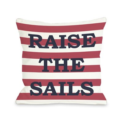 Raise The Sails Striped Throw Pillow Size: 18 H x 18 W