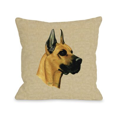 Doggy D�cor Great Dane Throw Pillow Size: 26 H x 26 W