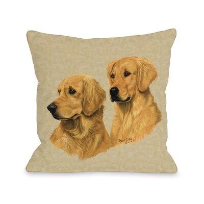 Doggy D�cor Golden Retriever Double Throw Pillow Size: 26 H x 26 W