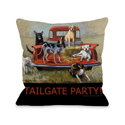 Doggy D�cor Tailgate Party Throw Pillow