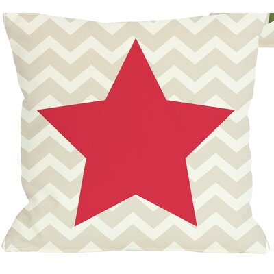 Chevron Star Reversible Throw Pillow Size: 16 H x 16 W