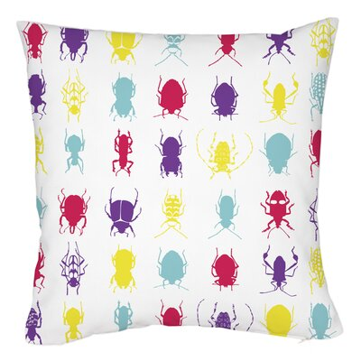 All Over Insects Throw Pillow Size: 16 H x 16 W