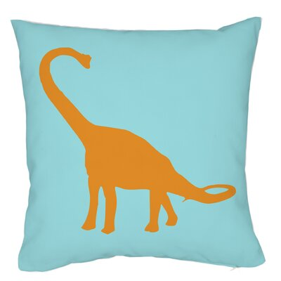 Apatosaurus Stripes Throw Pillow Size: 18 H x 18 W