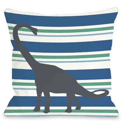 Apostosaurus Throw Pillow Size: 18 H x 18 W